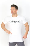 Primitive Gym Stretch T-Shirt Large Logo White