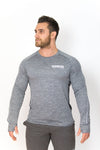 Primitive Long Sleeve Muscle Fit Gym Tee Grey Marl