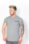 Primitive Gym Stretch T-Shirt Small Logo Heather Grey