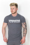 Primitive Gym Stretch T-Shirt Large Logo Charcoal