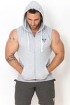 Primitive Sleeveless Gym Hoodie Heather Grey