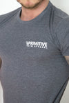 Primitive Gym Stretch T-Shirt Small Logo Charcoal