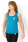 Primitive Racer Back Gym Vest Heather Galapagos Blue