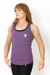 Primitive Racer Back Gym Vest Heather Aubergine