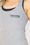 Primitive Racer Back Gym Vest Heather Grey