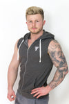 Primitive Sleeveless Gym Hoodie Charcoal Grey