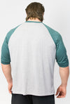 Primitive Gym 3/4 Length T-Shirt Heather/Dark Green