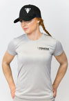 Ladies Performance Gym T-Shirt Silver Fleck