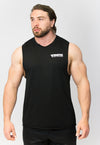 Primitive High Neck Gym Vest Black