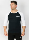 Primitive Gym 3/4 Length T-Shirt Black/White