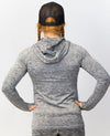 Ladies Silver Fleck Gym Pullover