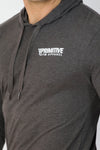 Primitive Gym Lightweight Hoodie Charcoal Grey