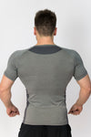 Primitive Gym Slim Fit T-Shirt Heather Grey