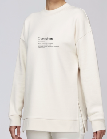 Organic Side-slit Conscious Definition Organic Sweatshirt (2 Colours Available)