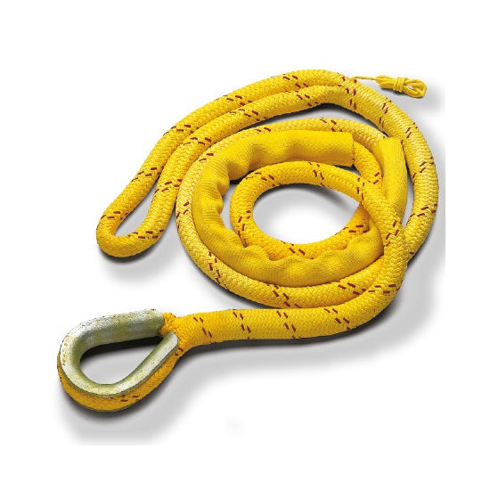 New England Ropes 5/8in (16mm) Mooring Pennant Yellow with 12in eye - 15ft Long