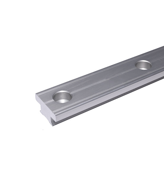 Antal 40mm T-Track 100mm Hole Spacing 2m Long - Silver Anodized