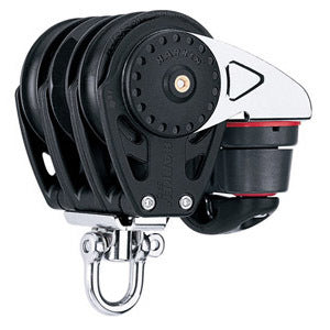 Harken 2685 75mm Triple Carbo Ratchamatic Block w/Cam Cleat