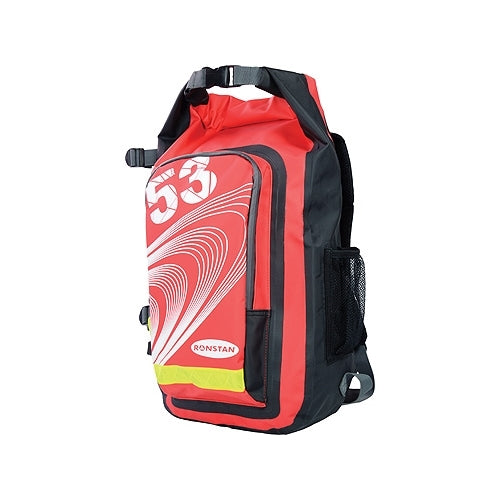 Ronstan Dry Roll-Top 26L Backpack PVC Red and Black
