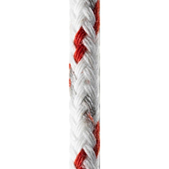 FSE Robline 1/4in (6mm) Neptun 500 Rope White/Red - Full 656ft Spool