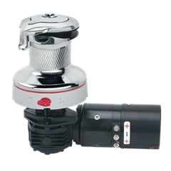 Harken 40 Rewind 24V Horiz Chrome Ctrl Box Winch