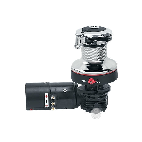 Harken 60 Electric ST Rewind Radial Winch Chrome 12V Horiz Left Motor