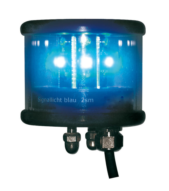 Peters Bey LED Blue Flashing Navigation Light - Black