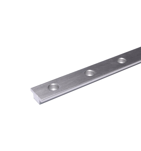 Antal 26mm T-Track 50mm Hole Spacing 2m Long - Silver Anodized