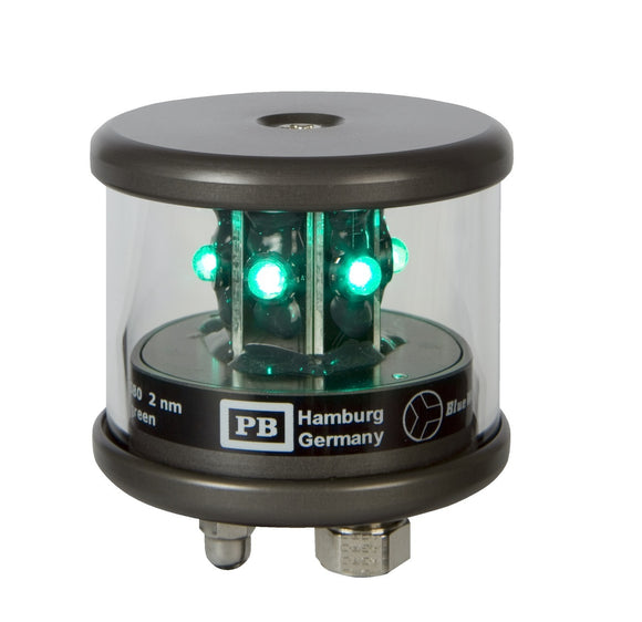 Peters Bey LED All Around Green Navigation Light - Black