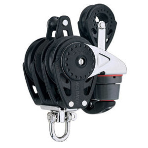 Harken 2687 75mm Triple Carbo Ratchamatic w/CamBecket and 57mm Blk