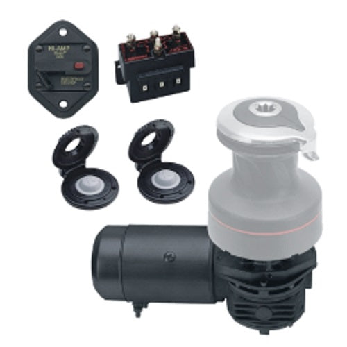 Harken 40.2 Radial Electric Winch Conversion Kit 12v Horiz Left Mount 700W