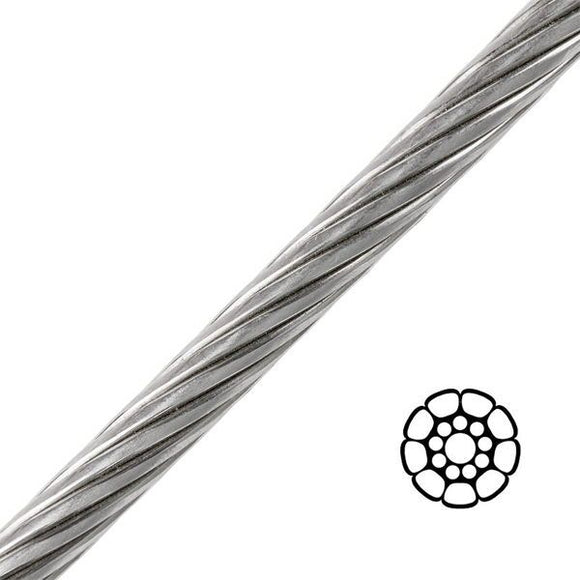 Stainless Steel Compact Strand 1X19 Wire - 12mm