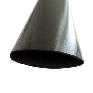 Airfoil Carbon Tubing - Uni Shiny Resin Finish - 4in Chord - 0.069in Wall