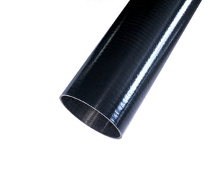Round Carbon Tubing - Uni Shiny Resin Finish - 1.38in ID - 0.046in Wall