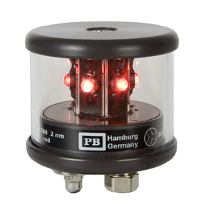 Peters Bey LED All Around Red Navigation Light - Black