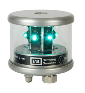 Peters Bey LED All Around Green Navigation Light - Silver