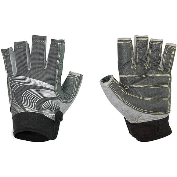 Ronstan Sticky Race Glove 3/4 Finger - Grey
