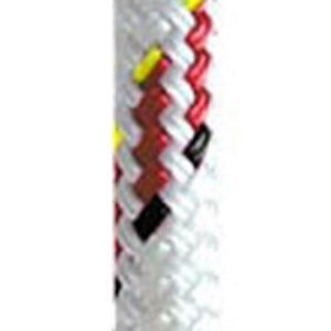 Yale Cordage 1/2 - 12mm Vectran White with Red Fleck