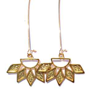 Gold Phaedra Sun Earrings