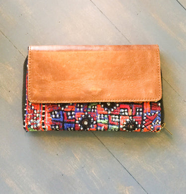 Leather Front Wallet - Cane And Camilla