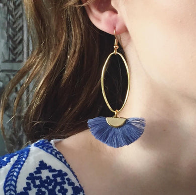 Gold Caprioska Tassel Earrings