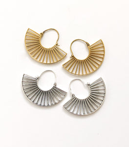 Tribal Fan Earrings