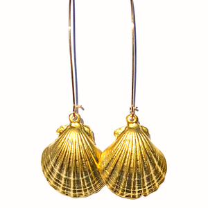 Gold Pippa Shell Drop Earrings