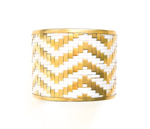Braided Brass Cuff Bracelet