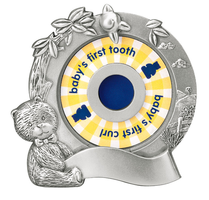 Teddy Bear's First, 1st Curl & Tooth Holder, ROYAL SELANGOR-VONMEL Luxe Gifts