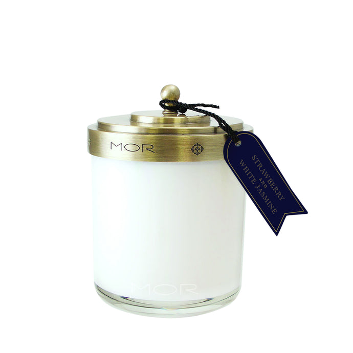 Strawberry & White Jasmin, Scented Candle, MOR-VONMEL Luxe Gifts