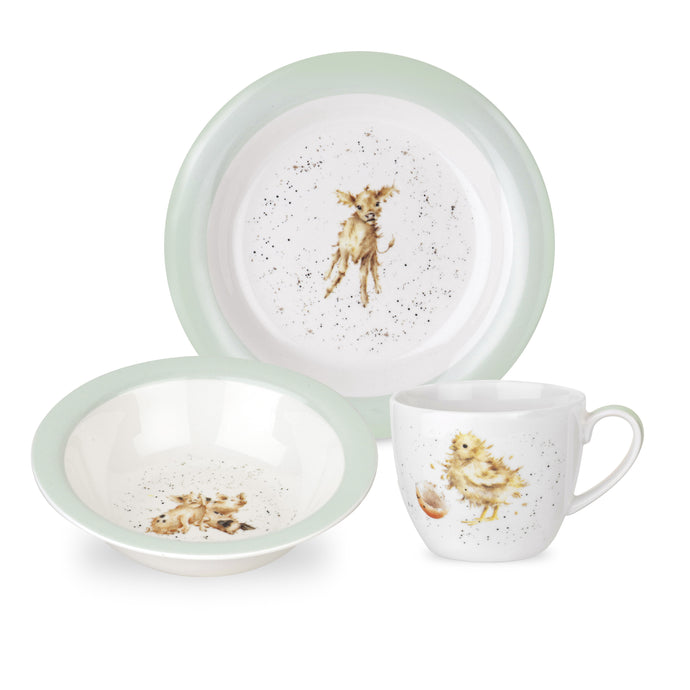 Nursery Collection, 3 pc Porcelain Set, ROYAL WORCESTER WRENDALE-VONMEL Luxe Gifts