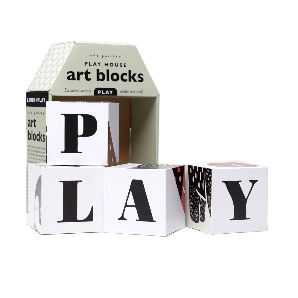 Play House Art Blocks, Play, WEE GALLERY-VONMEL Luxe Gifts