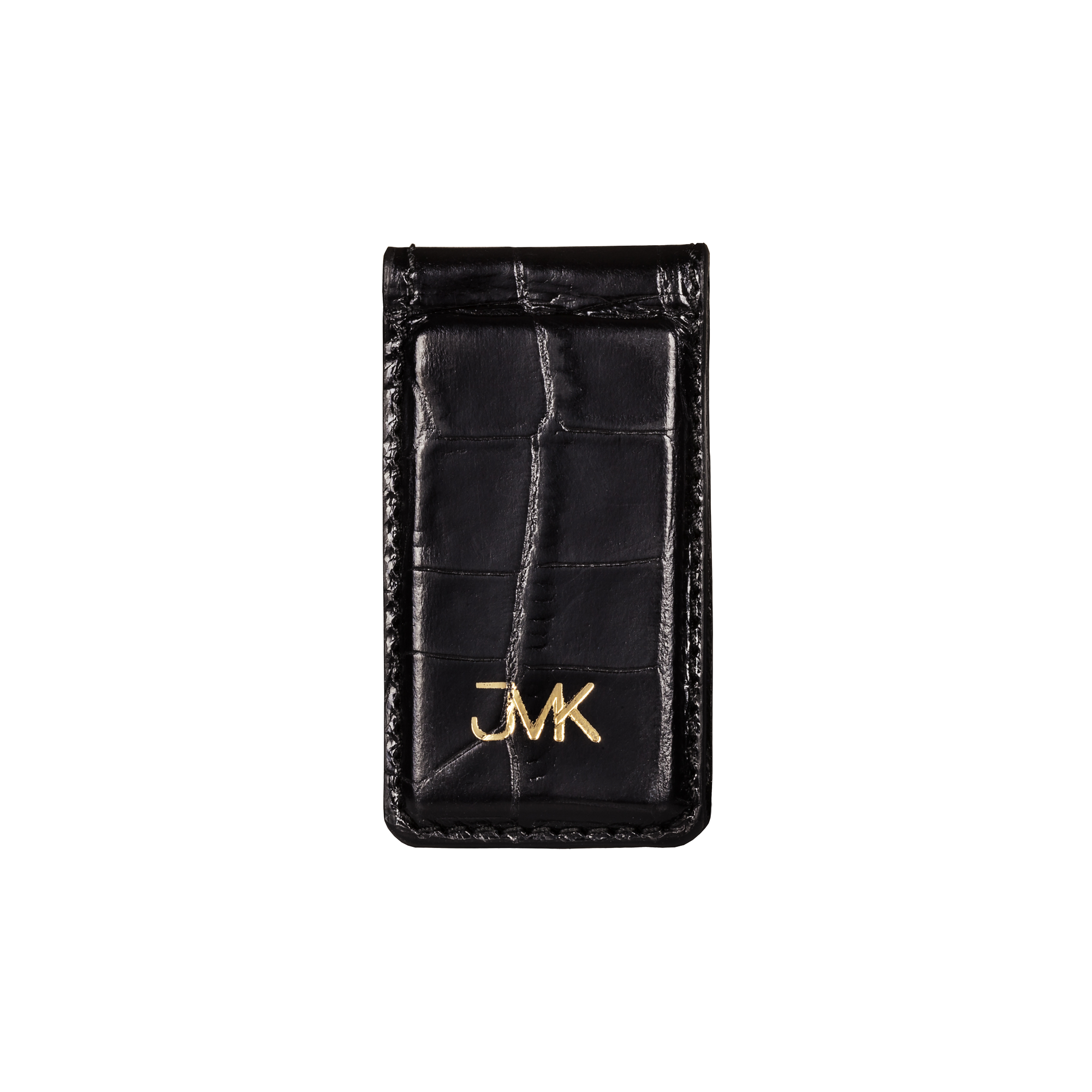 Money Clip, Croco Leather Black/Red, MAISON JMK-VONMEL Luxe Gifts