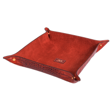 Change Tray, Croco Leather Tan/Brown, MAISON JMK-VONMEL Luxe Gifts