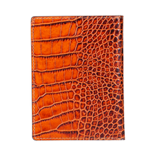 Passport Holder, Croco Leather Tan, MAISON JMK-VONMEL Luxe Gifts